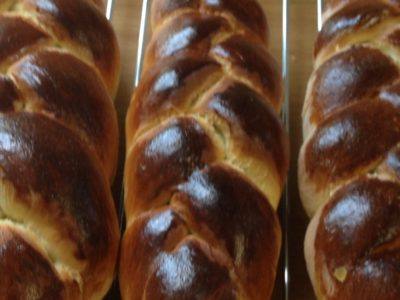 Close up image of challah