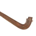 Shofar, blow piece on left, carved with foliage patterns and hebrew writing
