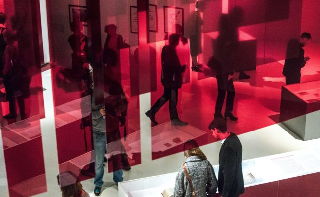 Blood exhibition interior