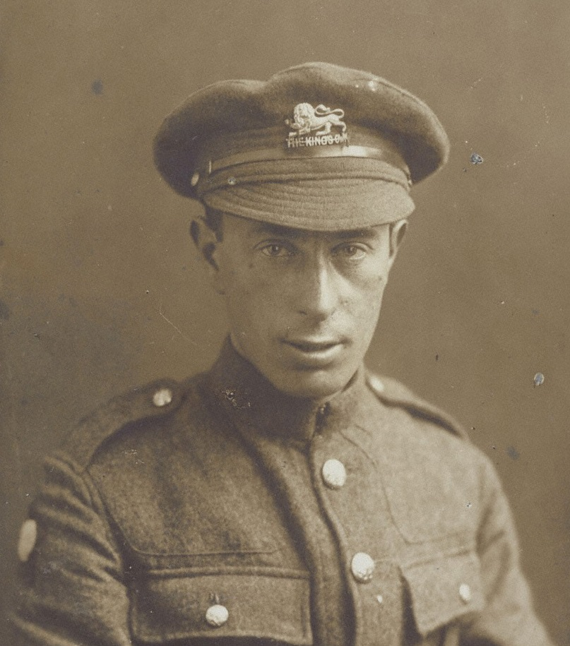 Sepia photo of man in military uniform