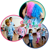 Photos of children dancing with the words 'Diddi Dance' over the top