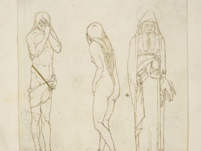 Drawing of Noah, Adam and Eve