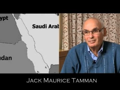 Map of Sudan next to photograph of Jack