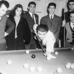 Members of the Primrose Club playing snooker