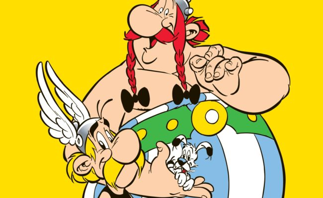 Illustration of Asterix and Obelix