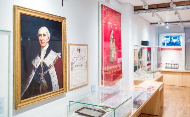 Interior of history gallery