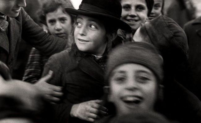Jewish school children looking happy