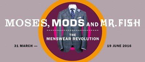 Menswear Revolution exhibition banner