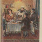 family at Shabbat table
