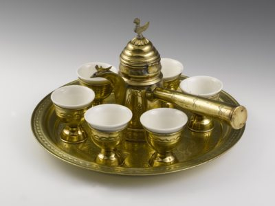 Gold plates and cup