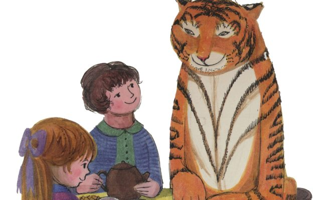 Image of Mog the cat and kids