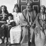Chief rabbi Hakham Ezra Dangoor in Baghdad: Family of Iraqi Chief Rabbi Hakham Ezra Dangoor in Baghdad, 1910.