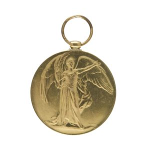 Medal with angel print