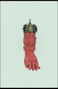 Coral charm amulet