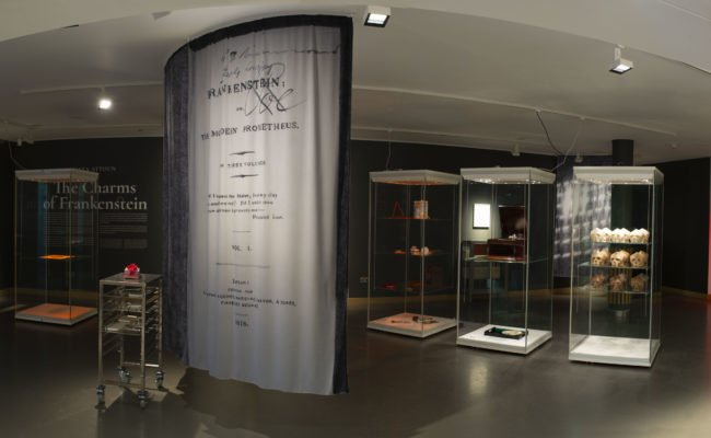 Panoramic view of Charms of Frankenstein exhibition