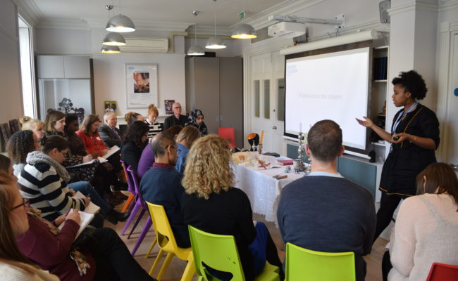 Group of teachers at a teachers' seminar in the Education Centre at the Jewish Museum London