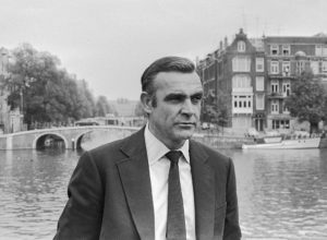 Sean Connery shooting the James Bond movie
