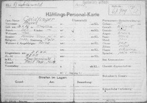 B&W photo of a written in ID card