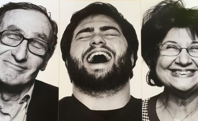 Photo of 3 people laughing and smiling