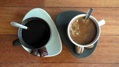 Two mugs of coffee