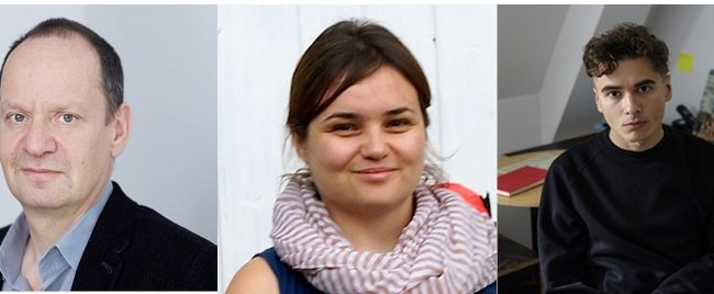 Portrait of three people