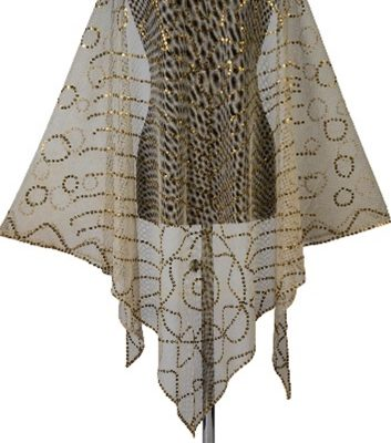 A woven cream wedding veil