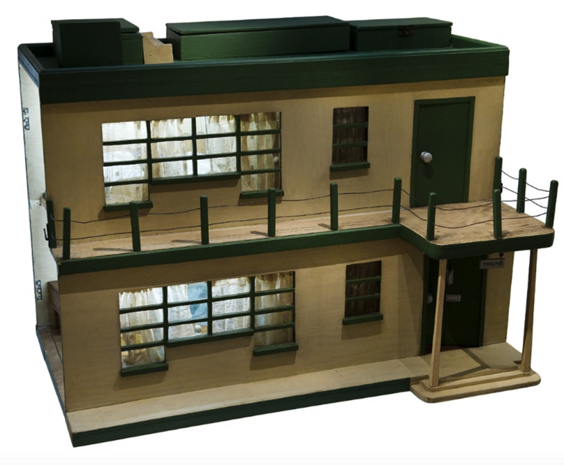 A wooden doll's house