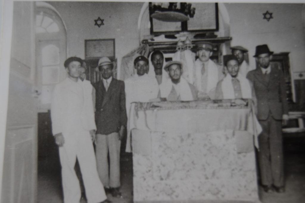 black and white photo of Ethiopian jews